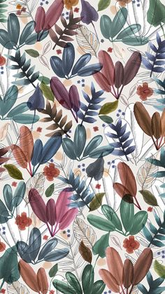 www.brief-story.com Textile Patterns, Flower Patterns, Print Patterns, Fabric Paper, Pattern Illustration, Surface Pattern, Beautiful Patterns, Background Patterns, Color Mixing