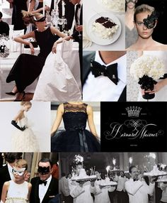 black and white masquerade party