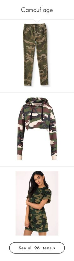 """""""Camouflage"""" by xgingerlovex ❤ liked on Polyvore featuring pants, leggings, camo, high-rise leggings, high waisted jeggings, stretch jean leggings, camouflage leggings, denim leggings, tops and hoodies"""