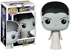 The Bride of Frankenstein gets the Pop! Vinyl makeover! The Universal Monsters classic character stands 3 3/4-Inch tall and comes in her iconic white dress. Don't forget to pick up the Frankenstein Pop! Vinyl figure as well (sold separately), just because these two should not be separated! This Bride of Frankenstein Pop! Vinyl figure makes a great gift for any Universal Monsters fan!