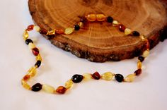 Teething necklace amber jewelry polished amber by LovelyCraftsHome