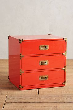 Lacquered Wellington Three-Drawer Dresser
