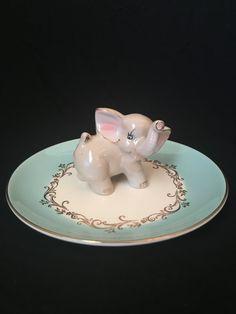 Vintage Elephant Ring Dish Vintage Ring by LuluAndMomsBoutique