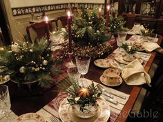 Traditional Christmas Tablescape - StoneGable