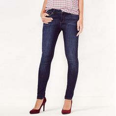 Women's LC Lauren Conrad Skinny Jeans, Size: 8, Blue