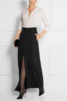 Vanessa Seward|Adagio split-front wool-crepe maxi skirt|NET-A-PORTER.COM
