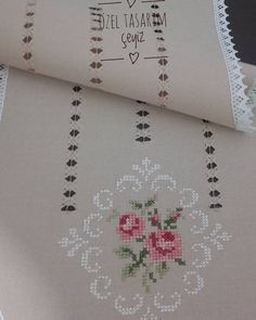 uploaded this image to 'my hardanger'. Cross Stitch Rose, Cross Stitch Flowers, Cross Stitch Embroidery, Hand Embroidery, Embroidery Designs, Cross Stitch Designs, Cross Stitch Patterns, Hem Stitch, Drawn Thread