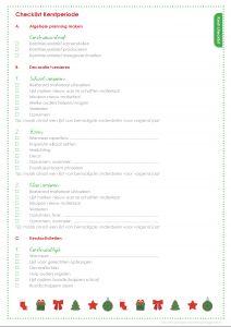 Printable Kerst checklist leerkrachtorganizer.nl