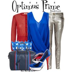Inspired by character Optimus Prime from the Transformers franchise.