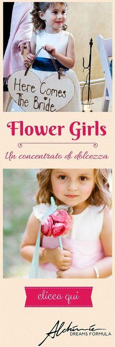 La flower girl è la piccola damigella che sparge petali all'ingresso della sposa nel corteo nuziale, ma non solo. Qual è il vero significato del suo ruolo?