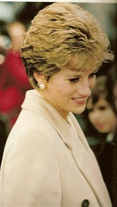 December 9, 1993: Princess Diana on a walkabout during her visit to Ulster Hospital near Belfast, Northern Ireland.