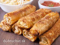 Šunkové závitky plnené syrom Czech Recipes, Ethnic Recipes, Sausage, Pasta, Bread, Baking, Cooking, Brot, Bakken