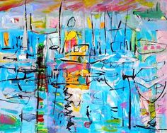 Christy Sverre paints inspiring and unique semi-abstracts. Nautical Art, Canvas, Painting, Inspiration, Tela, Biblical Inspiration, Painting Art, Canvases, Paintings