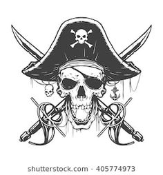 Illustration about Skull pirate illustration in vector. Illustration of halloween, flag, head - 70035538 Skull Pirate, Pirate Art, Pirate Life, Pirate Flags, Pirate Flag Tattoo, Pirate Skull Tattoos, Pirate Tattoo Drawings, Pirate Tattoo Sketch, Image New