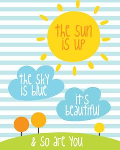 Beatles Sun Is Up Sky Is Blue Poster : Modern by SealTypo on Etsy