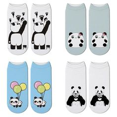 New Printed Panda Cartoon Socks Woomen Character Giant Panda Pattern Unisex Ankle Socks Funny Japanese Kawaii Short Socks Japanese Funny, Short Socks, Funny Socks, Ankle Socks, Panda, Snoopy, Kawaii, Cartoon, 3d