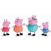 """Peppa Pig - Peppa and Family 3"""" 4 pack"""
