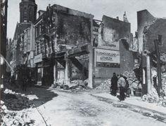 1944 Broerstraat met rechts de Gruitberg.