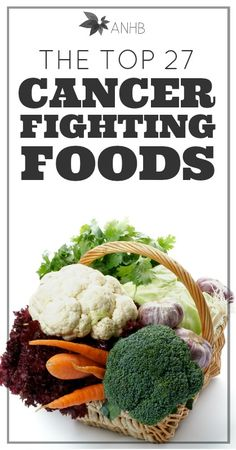 Check out this list of the top 27 cancer-fighting foods! Some of my favorites to eat, too!