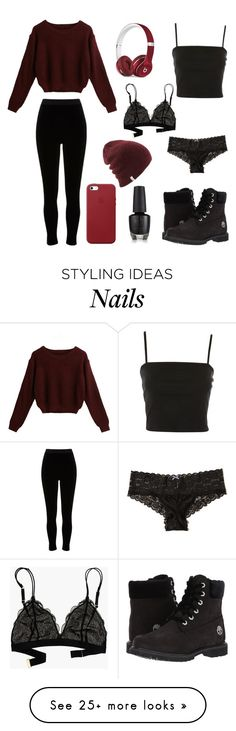 """Block Them Out"" by izzyhcraig on Polyvore featuring Topshop, River Island, Madewell, Hollister Co., Apple, Beats by Dr. Dre and Timberland"