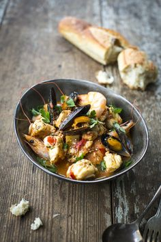 Croatian Fish Stew | DonalSkehan.com, A hearty fish stew which can be made with whatever seafood you like.