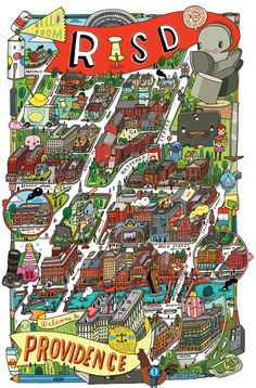 Maps! by Aaron Meshon, via Behance