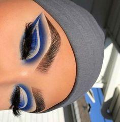 Mar 2020 - Browse the top-ranked list of Colorful Makeup. See more ideas about Makeup, Colorful makeup and Makeup inspiration. Makeup Eye Looks, Eye Makeup Art, Blue Makeup, Girls Makeup, Pretty Makeup, Skin Makeup, Makeup Inspo, Eyeshadow Makeup, Makeup Tips