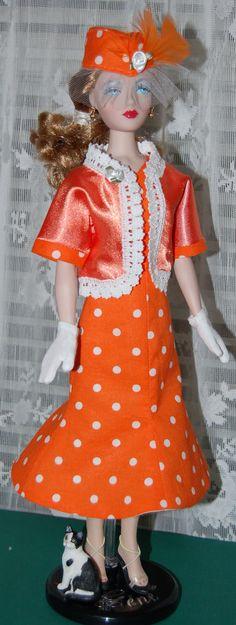 Handmade Gene Marshall  Doll Cotton 2 piece by AuntieLousCrafts