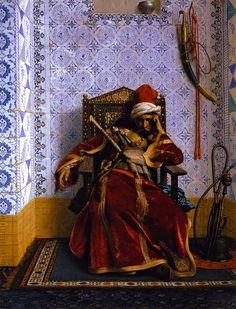 Markos Botsaris Greek Arabian Orientalism Jean Leon Gerome art for sale at Toperfect gallery. Buy the Markos Botsaris Greek Arabian Orientalism Jean Leon Gerome oil painting in Factory Price. Jean Leon, Empire Ottoman, Academic Art, Arabic Art, Arabian Nights, Oil Painting On Canvas, Beautiful Paintings, Islamic Art, Art History