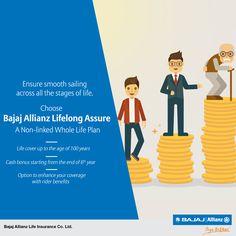 Live a life of plenty with Bajaj Allianz Lifelong Assure - A Non-linked Whole Life Plan till your 100th birthday. #JiyoBefikar.