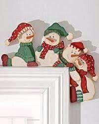 Muñecos de nieve marco