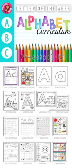 Letter of the Week Preschool or K4 Curriculum
