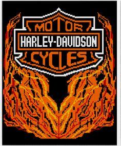 Crochet Parfait: Harley Davidson Afghan Chart