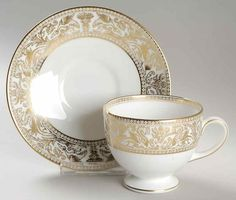 Wedgwood Gold Florentine - but in the Peony-shaped cup