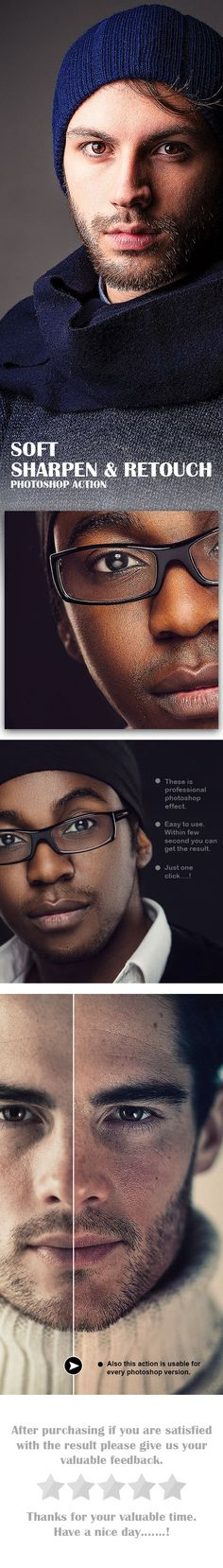 Soft Sharpen & Retouch Photoshop Action