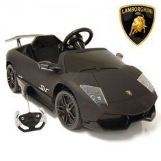 Matte Black Lamborghini Murcielago Kids Sports Car Which little one would not like to get behind the wheel of the might Murcielago SV Car Bed, Lamborghini, Kids Sports, Electric Cars, Matte Black, Activities, Electric Vehicle