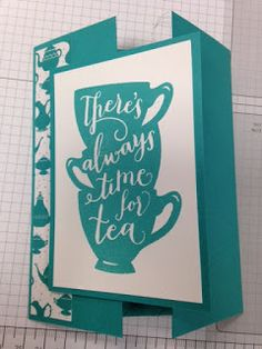Have a Cup, Magic Window Technique Card, 2016 Occasions Catalog, Stampin' Up!, Rubber Stamping, Handmade Cards