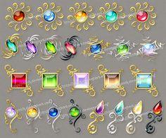 Gems (downloadable stock) - 6 by Rittik-Designs on DeviantArt