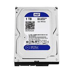 WD Blue 1TB SATA 6 Gb/s 7200 RPM 64MB Cache 3.5 Inch Desktop Hard Drive (WD10EZEX), 2016 Amazon Most Gifted Data Storage  #PersonalComputer