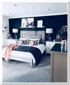 30 Elegant And Easy DIY Wall Decor Ideas For Bedroom 30 elegante und einfache DI. - 30 Elegant And Easy DIY Wall Decor Ideas For Bedroom 30 elegante und einfache DIY Wand-Dekor-Ideen - Master Bedroom Design, Home Decor Bedroom, Modern Bedroom, Gold Bedroom, White Bedroom, Contemporary Bedroom, Bedroom Designs, Fancy Bedroom, Master Suite