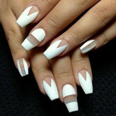 White Negative Space Nail Art Pictures, Photos, and Images for Facebook, Tumblr, Pinterest, and Twitter
