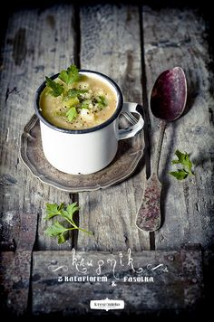 Pearl Barley Soup with Cauliflower & Green Beans
