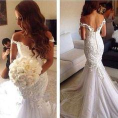 H228 gorgeous off the shoulder wedding dresses, backless wedding dresses, mermaid wedding dresses, tulle sweetheart bridal gowns, wedding dresses plus