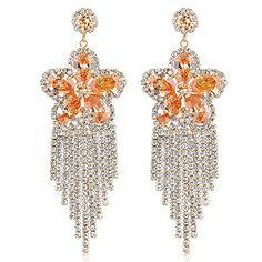 Dnswez Fashion Gold Plated Big Flower Crystal Earrings Dangle Wedding Jewelry Mother's Day Gift Dnswez http://www.amazon.com/dp/B01DPEG08I/ref=cm_sw_r_pi_dp_tw3cxb08094P8