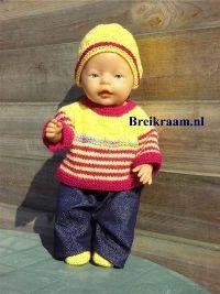 Breipatroon Babyborn basistruitje