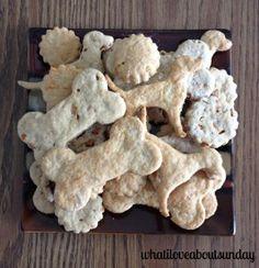 Easy 4 ingredient dog treats - homemade dog treats