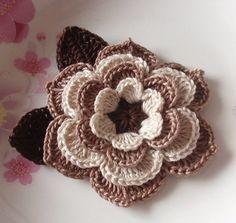 flores a crochet modelos09                                                                                                                                                     Más