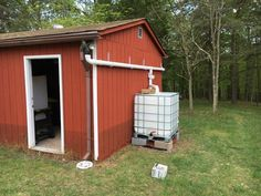 DIY Rainwater Collection System Complete Left Side