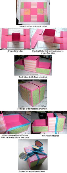 Origami Gift Box Tutorial Pics