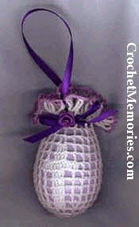 Crochet Memories Blog: Free Pattern - Filet Cross Easter Egg Cover